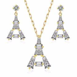 Reeks van de Juwelen van de Manier van China van de Fabrikant van de namaakbijouterie de Vastgestelde Zilveren