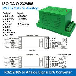 ISO DA o-232/485 Reeks RS232/RS485 Modbus RTU aan 4-20mA/0-5V/0-10V de Modules van de Aanwinst van de Gegevens van Analoge Signalen