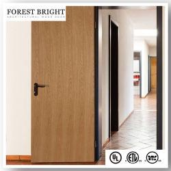 В списке UL 20 минут огонь из естественной древесины шпона по завершении твердых Core заподлицо деревянные двери
