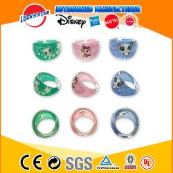 Очаровательный кольца с печать пластиковых игрушек для девочек украшения