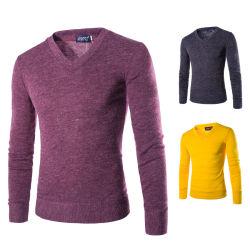 남자의 토끼 모피 V 목 스웨터 형식 우연한 스웨터