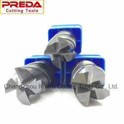 CNCの切削工具のタングステンの固体炭化物の標準またはインチのサイズの上塗を施してある端製造所の製粉のツール