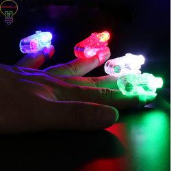 Luzes de LED de feixes de luz do Dedo Anéis laser piscando Raves Neon lâmpadas incandescentes