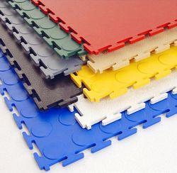 De Tegel van de Vloer van de garage en de Tegel van de Vloer van pvc, Tapijt van de Vloer van de Mat van Interclocking van de Vloer van pvc het Rubber Plastic