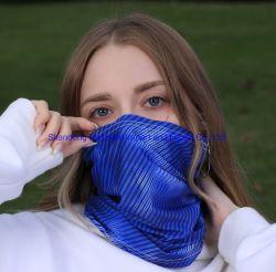Logotipo personalizado ajustable de hielo de la máscara de ciclismo desgaste del cabezal de seguridad reflectante Multi-Way Bandana Pañuelo de desgaste
