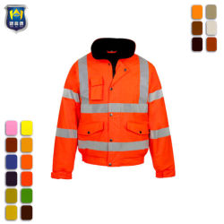 도매 작업복 재킷 Uniform Hi Vis Safety Reflective Jackets Waterproof 방풍 남성용 업무용 재킷
