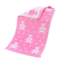Großverkauf kundenspezifisches Bad-Gesichts-Handtuch-Gewebe des Karton-Baumwollbaby-27X50cm