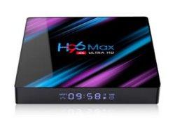 2019 schöne Entwurfs-gesetzter Spitzenkasten H96 maximale Rk3318 4GB ROMAndroid 9.0 DES RAM-32GB strömender Fernsehapparat-Kasten