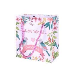 저렴한 웨딩 선물 포장 종이 가방 로고 인쇄 판매 시 현금 사용자 지정