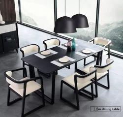 Страны Северной Европы Дизайн квартиры мебель из дерева и обеденный стол, 6 стула