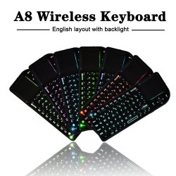 A8 Mini-teclado sem fios com a função Prointer Laser Teclado grega de projeção