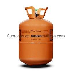 3340 mixta de gas refrigerante R407c sustituir R22 11,3kg para el sistema de refrigeración