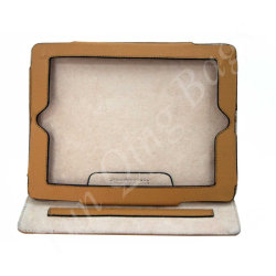Pele genuína iPad caso/iPad titular