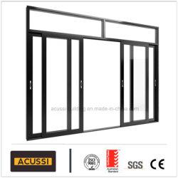 Isolamento térmico à prova de alumínio Entrada Anti-Thief Porta Corrediça com vidro temperado duplo para o projecto de construção Casa