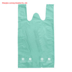 100% biodégradable sac sac compostable T-Shirt Sac à main Gilet en plastique HDPE/LDPE Sac PLA Amidon de maïs Pbat Pbs un sac de shopping