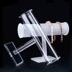 Acrílico transparente de bricolage Round Bracelete barra em T exibir 10 Polegadas Novo