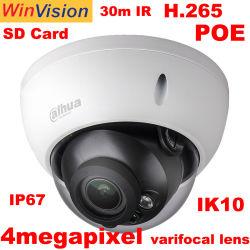 Proveedor de CCTV Dahua original Ipc-Hdbw2431R-Zs especificación ONVIF H. 265 4MP HD Poe domo de infrarrojos Cámara IP de vigilancia de seguridad IP con la tarjeta SD67 IK10