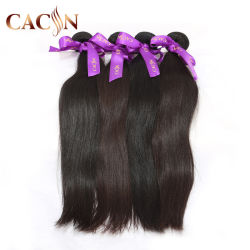 100% virgem reta e sedosa Cabelos em bruto bruto natural cabelos indiano