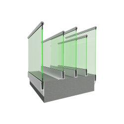 Modernes einfacher Entwurfs-Plattform-/Balkon-/Treppen-Aluminiumu-profilstäbeglasgeländer