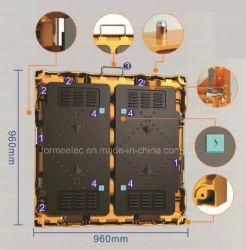 Мг алюминиевого сплава кабинета для использования вне помещений в аренду светодиодный экран для использования внутри помещений P5 светодиод для поверхностного монтажа