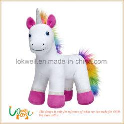 Soft Blanc moelleux Brony poney pieds roses cadeau Jouet Animal yeux en plastique