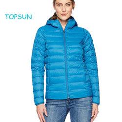 Vestuário de Inverno mulheres Outdoor Sport Water-Resistant Leve desgaste PACKABLE JACKET para baixo de capuz