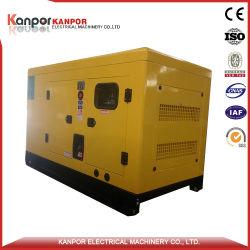 precio de fábrica de alta calidad 60kVA de potencia Generrator Diesel tipo silenciosa por Perkins motor refrigerado por agua