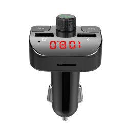 FM トランスミッター付きカーチャージャー Bluetooth レシーバーオーディオ MP3 プレーヤー カーキット USB カーキット