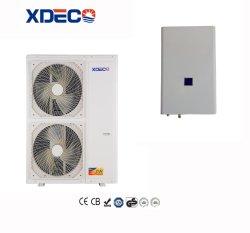 Evi residencial fonte de ar dividido de baixa temperatura da bomba de calor do aquecedor de água para água quente e aquecimento de piso