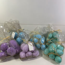 Les oeufs, la couleur des sacs d'oeufs, les oeufs, accessoires de Pâques