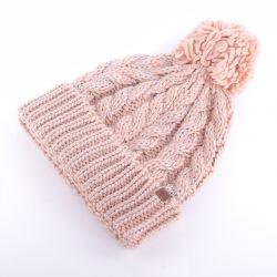 Mesdames de gros d'usine de tricot chapeaux Yarnwinter tissé