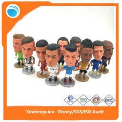 A figura de acção de plástico personalizado de jogadores de futebol de PVC Brinquedos de modelos 3D