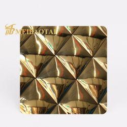 304 [روس] نوع ذهب [ستينلسّ ستيل] ماء تموّج يزيّن [سّ] صفح