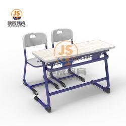 MDF металлические школьной мебели студент двойной письменный стол и стул