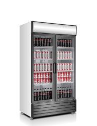 1000 л стеклянные двери дисплей пиво холодильник для вина шоу идеально подходит для бар клуб ресторан отеля