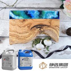 Don moderne de résine crée les planches à découper en bois recouvert de résine époxy résine Art Craft clair de la résine époxy résine liquide Don de l'artisanat Gallon
