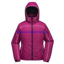 Comercio al por mayor de mujeres en el exterior de invierno cálido encapuchados chaqueta acolchada de esquí de nieve
