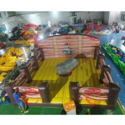 Hinchables toro mecánico montando juguetes para niños y adultos, PVC inflable gorila las corridas de toros