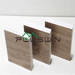 Placa de vidro laminado de PVC 1220mmx2440mmx18mm 0,55 Pecan densidade de cor de madeira