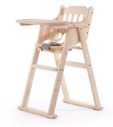 Hölzerner haltbarer Birken-Holzportable-bequemes führendes justierbares Höhen-Baby, das hohen Stuhl für Baby speist