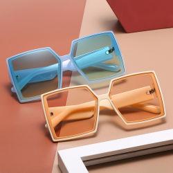 Eugenia 2021 Fashion Big Frame teintes de noir de marque de luxe UV400 Lunettes de soleil sur le stock de la rivière carré surdimensionné des lunettes de soleil