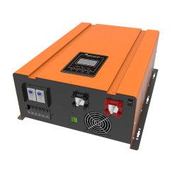 10 kVA 10 kW CC 48 V 96 V CC de alta eficiência a 220 V. Inversor de baixa frequência com onda sinusoidal pura de 230 V com IU Transformador de isolamento