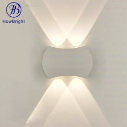 غرفة المعيشة الحديثة في فندق Home Light Up and Down IP54 ألومنيوم مقاوم للمياه ديكور ضوء LED أسود مصباح حائط خارجي