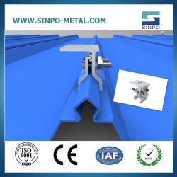 Toit de métal d'Énergie Solaire Panneau Solaire système de fixation des colliers en aluminium et les rails