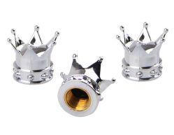 王冠のタイヤのパルブキャップ、弁帽の金の黒のタイヤのパルブキャップ、弁帽