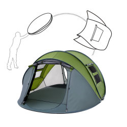 Grote 2-4 personen Easy Setup draagbare automatische Instant Waterproof overkapping Marquee Pop Up Dome Glamping Camping Outdoor Camp tent voor Familie/Feest/Strand