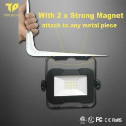 2020 Nouveau Outdoor portable phare de travail de l'aimant étanches IP65 15W rechargeable Lampe de travail phare de travail à LED de rafles magnétique