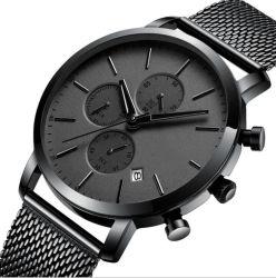 공장 최고 상표 남자 사치품은 로고 스테인리스 기능 크로노그래프 시계를 주문을 받아서 만들었다
