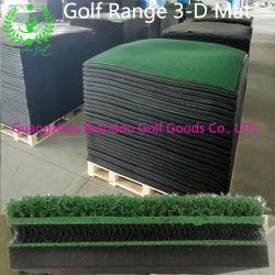 Golf-fahrende Reichweiten-Praxis-künstlicher grüner Rasen-3-D Golf-Matte