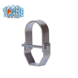 Struttura per impieghi gravosi forcella zincata con morsetto regolabile per tubi in acciaio al carbonio Gancio